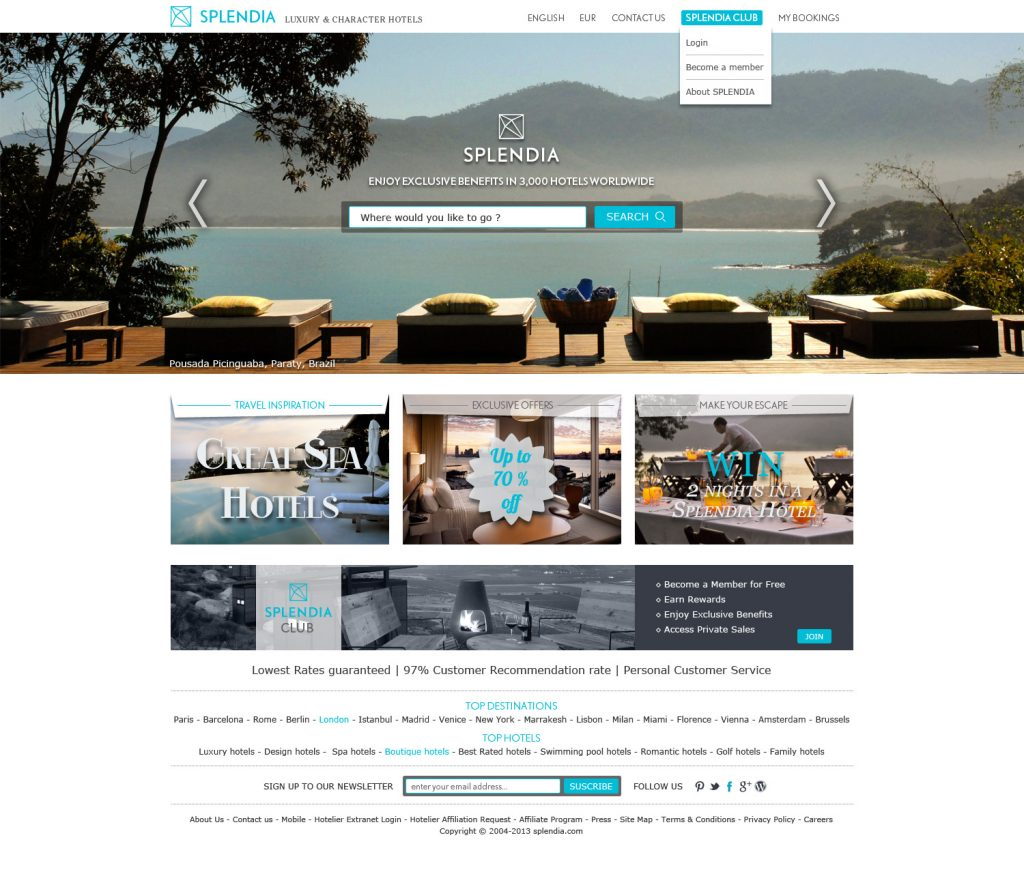Splendia Website Design